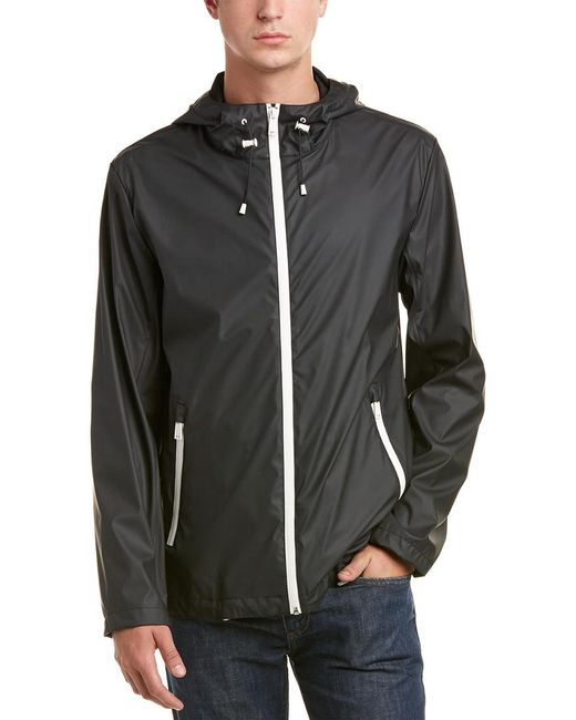Cole Haan - Black Rain Jacket for Men - Lyst
