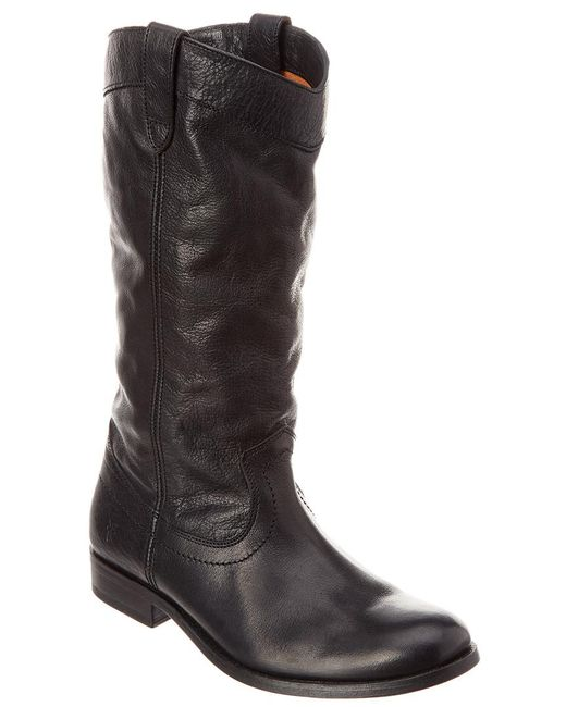 Frye - Black Melissa Pull On Tall Leather Boot - Lyst