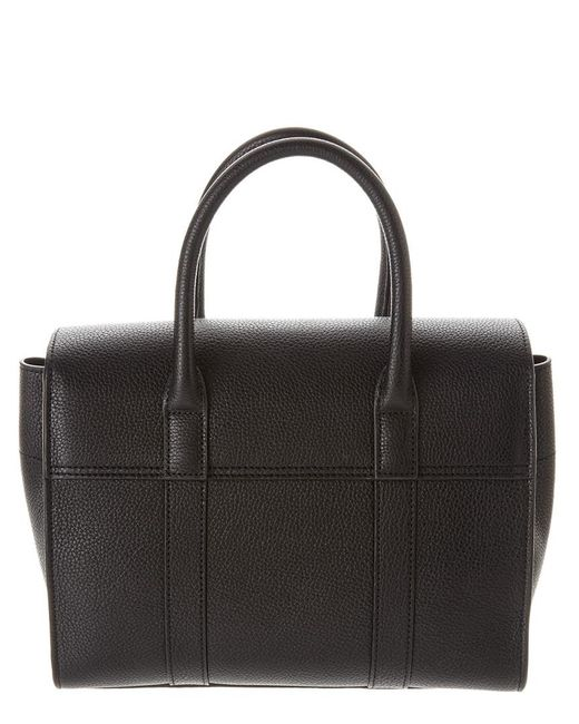 97fde79679 ... Mulberry - Black Small Bayswater Leather Satchel - Lyst