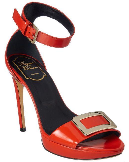 Roger Vivier - Red Patent Sandal - Lyst
