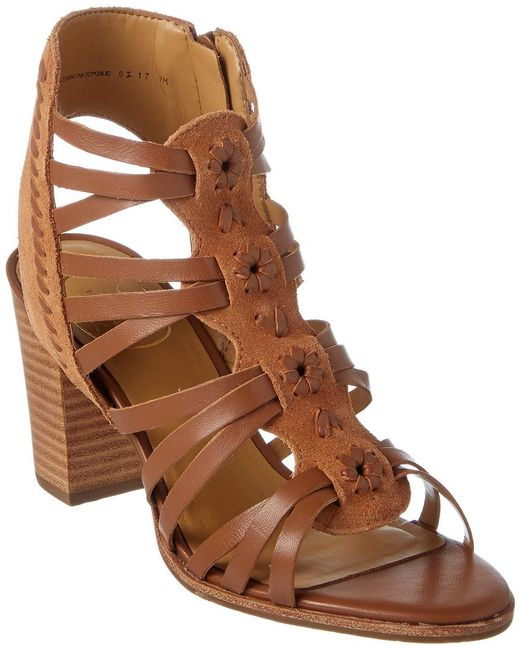 Jack Rogers - Brown Hadley Leather & Suede Sandal - Lyst
