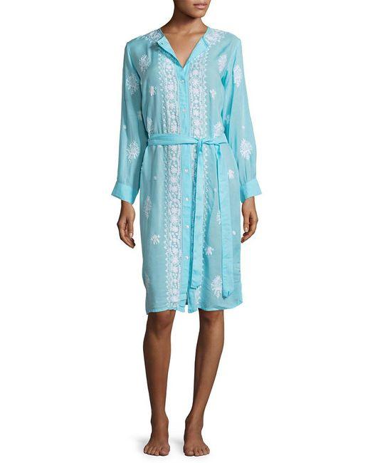 Melissa Odabash - Blue Fleur Cover-up Dress - Lyst