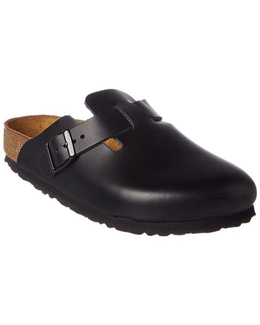Birkenstock - Black Boston Smooth Leather Narrow Clog - Lyst