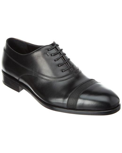 Ferragamo - Black Darryl Leather Oxford for Men - Lyst