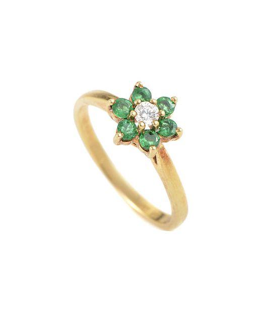 Heritage Tiffany & Co. - Metallic Tiffany & Co. 18k Diamond And Emerald Ring - Lyst