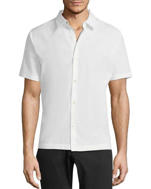 Theory - White Mercerized Pique Hybrid Shirt for Men - Lyst