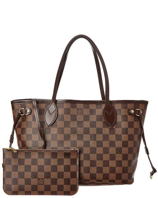 e9412bc76160 Louis Vuitton - Brown Damier Ebene Canvas Neverfull Pm Nm - Lyst ...