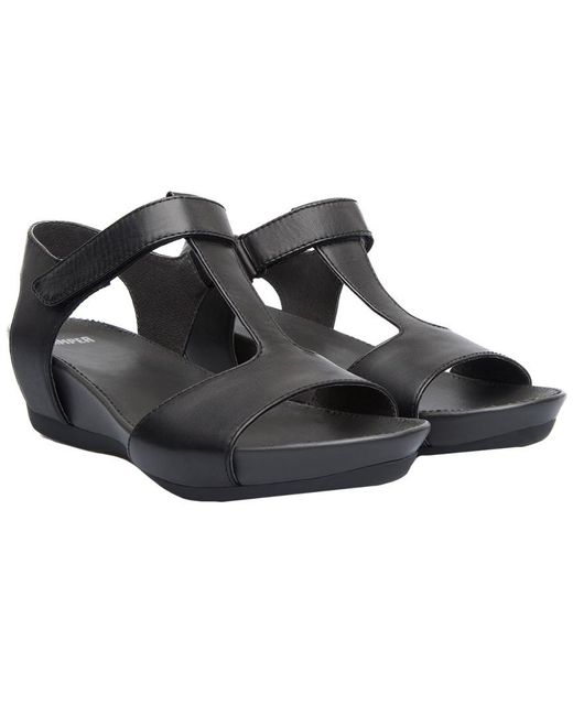 Camper - Black Women's Micro T-strap Wedge Sandal Sandals - Lyst