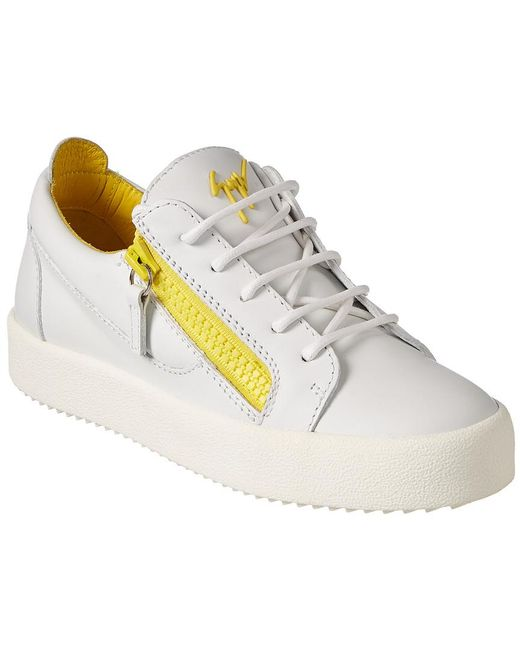 Giuseppe Zanotti - White Leather Low-top Sneaker - Lyst ... a071a499ac2