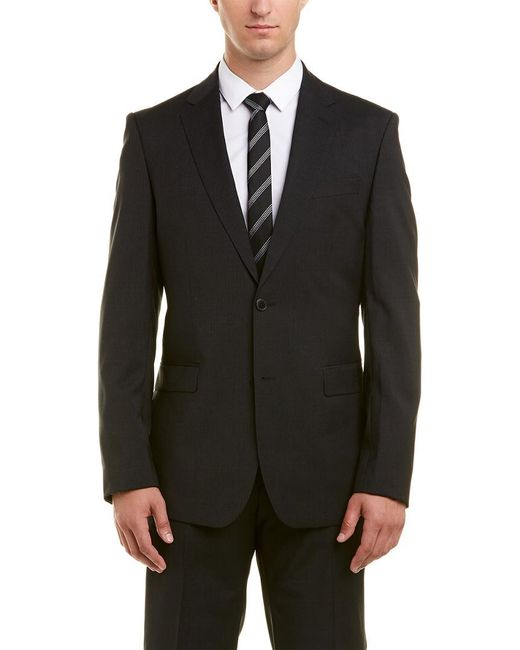 Versace - Black Collection Wool Suit With Flat Front Pant for Men - Lyst