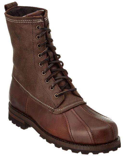 Frye - Brown Warren Leather Duck Boot for Men - Lyst