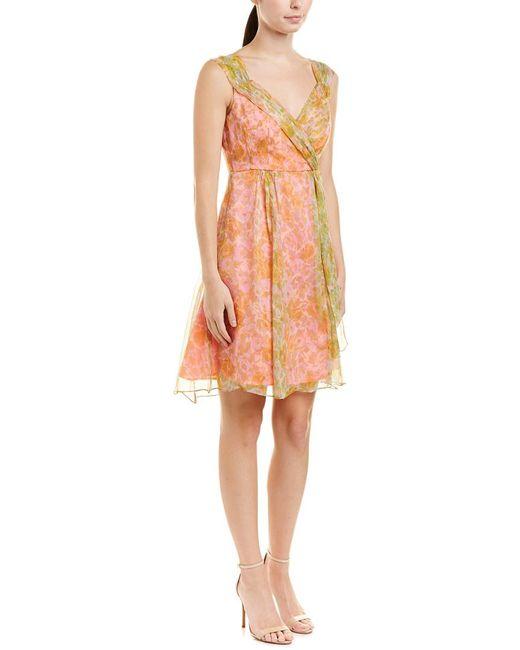 Nanette Lepore - Pink Little Paradise Silk A-line Dress - Lyst