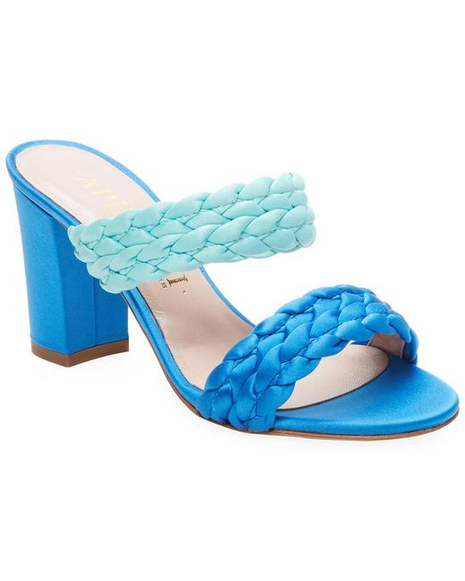 Aperlai - Blue Braided Open-toe Sandals - Lyst