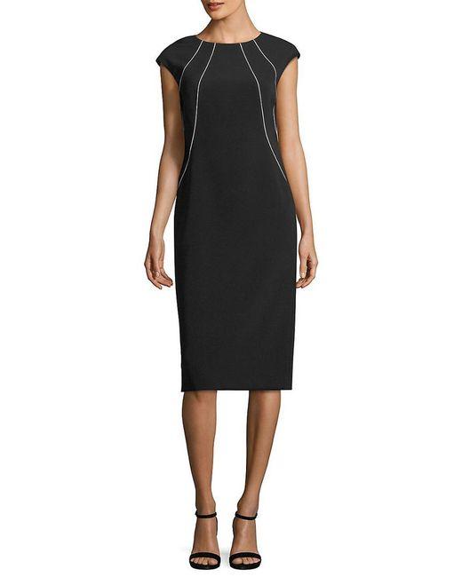 Lafayette 148 New York - Black Doloris Piped Dress - Lyst