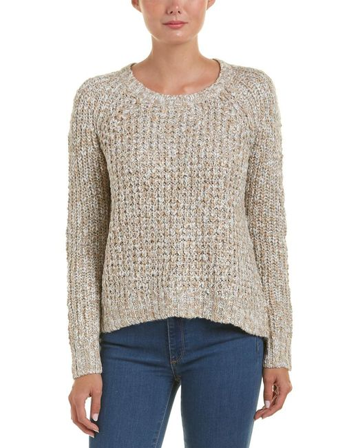 Michael Stars | White High-low Crop Sweater | Lyst