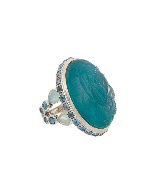 Stephen Dweck - Multicolor Jaipur Silver Diamond, Gemstone, & Pearl Ring - Lyst