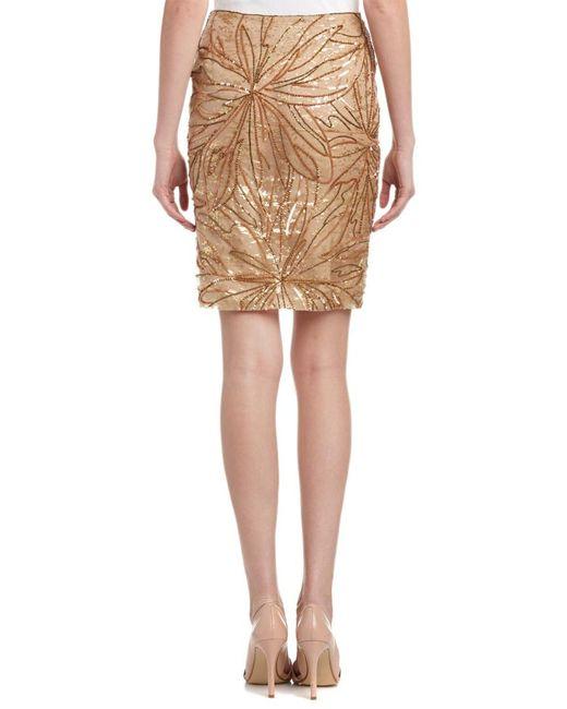 9b2a931194 ESCADA Silk Pencil Skirt in Natural - Save 37% - Lyst