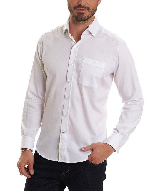 Robert Graham - White Christopher Tailored Fit Woven Shirt for Men - Lyst