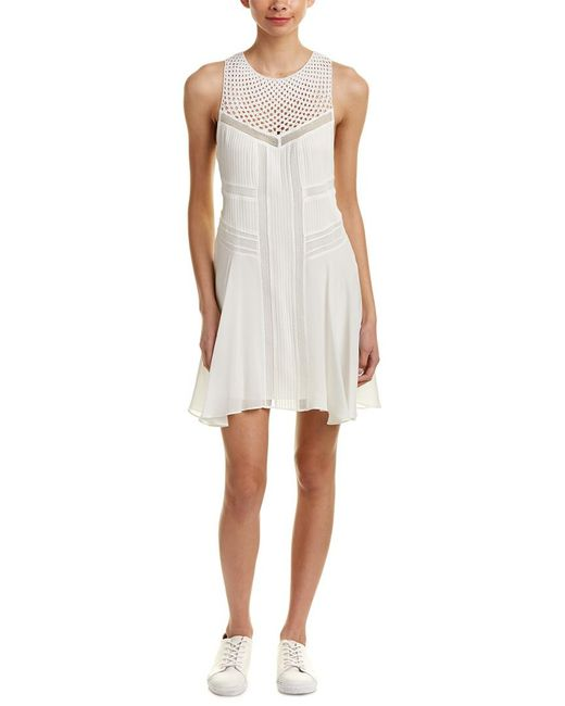 A.L.C. - White Elin Silk A-line Dress - Lyst