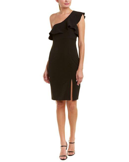 Bardot - Black Ruffle Shift Dress - Lyst