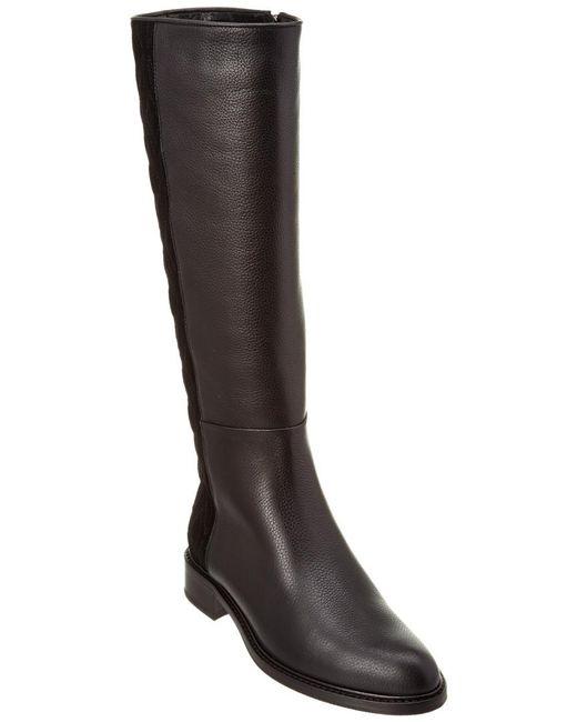 Aquatalia - Black Giovanna Waterproof Pebbled Leather Boot - Lyst