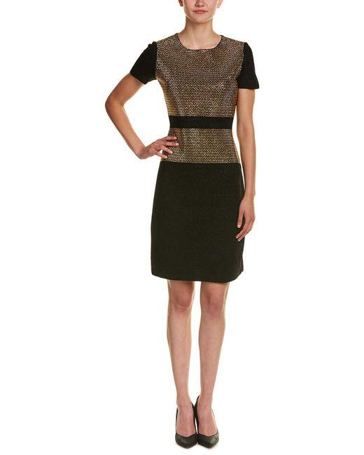 St. John - Black Wool-blend Dress - Lyst