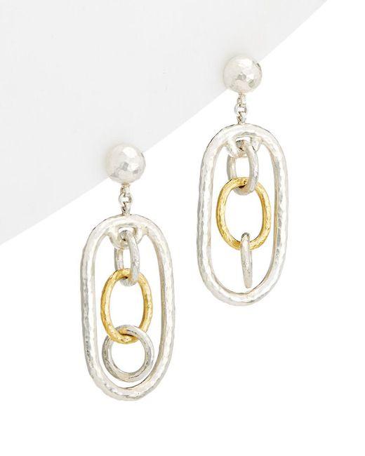 Gurhan - Metallic Hoopla 24k & Silver Drop Earrings - Lyst