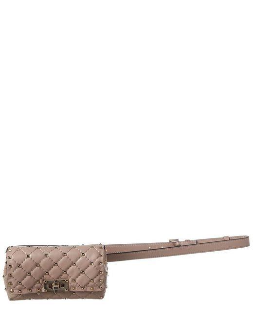 Valentino Multicolor Rockstud Spike Leather Belt Bag