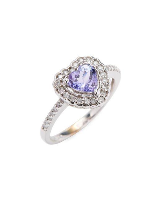 Rina Limor - Metallic 10k Heart Tanzanite & Diamond Halo Ring - Lyst