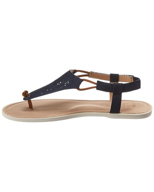 e529871af2e Lyst - Sperry Top-Sider Calla Jade Leather Sandal in Blue - Save 34%