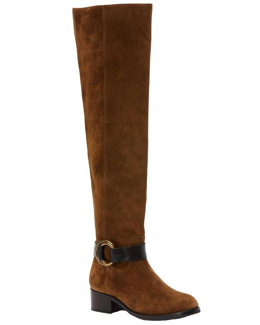 Frye - Brown Kristen Harness Over-the-knee Suede Boot - Lyst