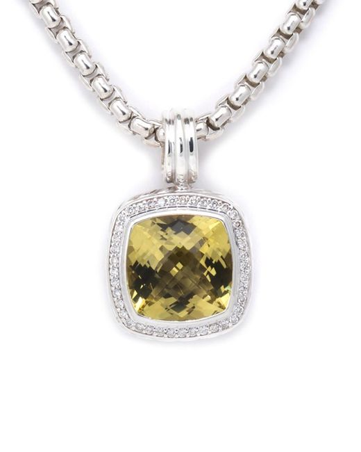 David Yurman - Metallic David Yurman Albion Silver 10.32 Ct. Tw. Diamond & Lemon Citrine Necklace - Lyst