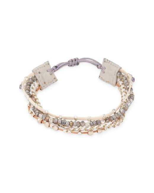 Chan Luu - Metallic Multilayered Beads Bracelet - Lyst