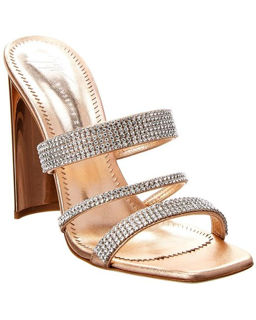 Giuseppe Zanotti - Pink Strappy Embellished Leather Sandal - Lyst