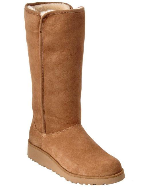 Ugg - Brown Kara Water-resistant Twinface Sheepskin Boot - Lyst