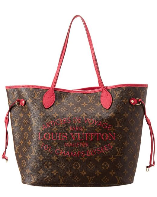 caf84d820dc11 Louis Vuitton - Red Limited Edition Pink Ikat Flower Monogram Canvas Neverfull  Mm - Lyst ...