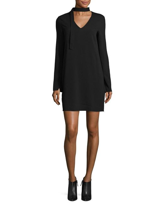 Tibi - Black Savanna Crepe Tie Dress - Lyst