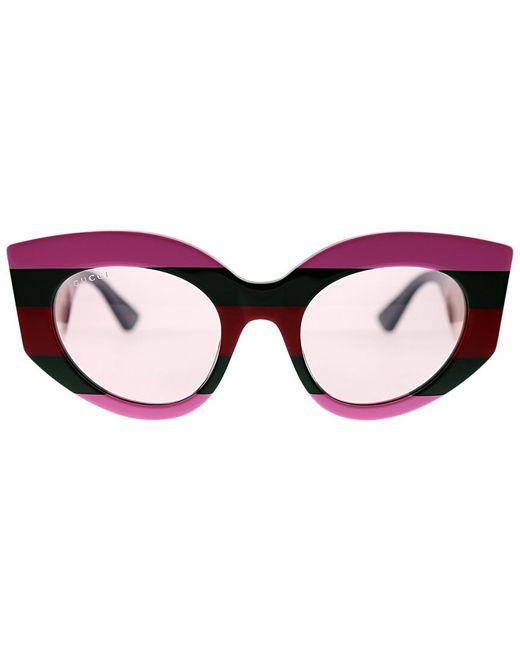 0e376d3318e ... Gucci - Multicolor Cat-eye 50mm Sunglasses - Lyst