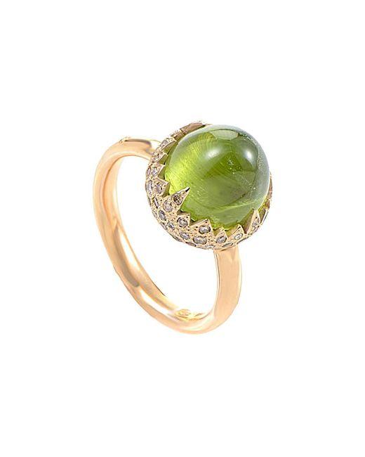 Pomellato - Metallic 18k Rose Gold 0.59 Ct. Tw. Diamond & Peridot Ring - Lyst