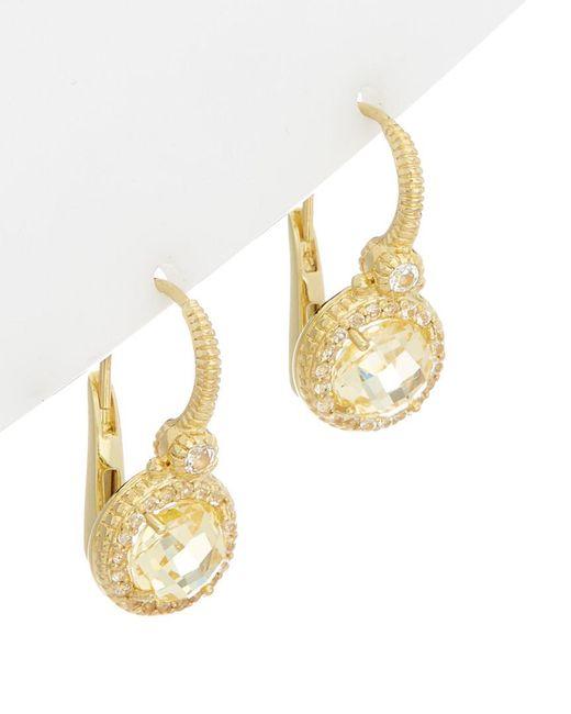 Judith Ripka - Metallic 14k Over Silver 0.48 Ct. Tw. White Topaz & Cz Drop Earrings - Lyst
