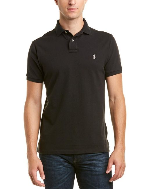 Ralph Lauren - Black Polo Custom Slim Fit Polo for Men - Lyst
