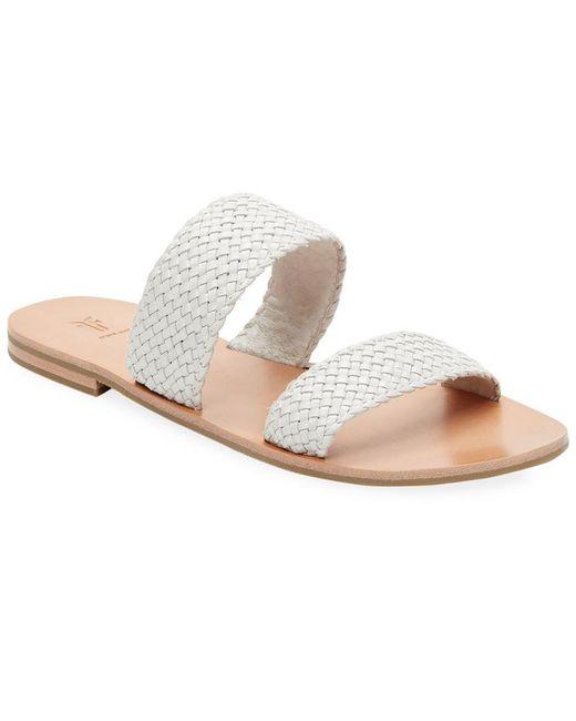 Frye - Brown Ruth Woven Slide Sandal - Lyst