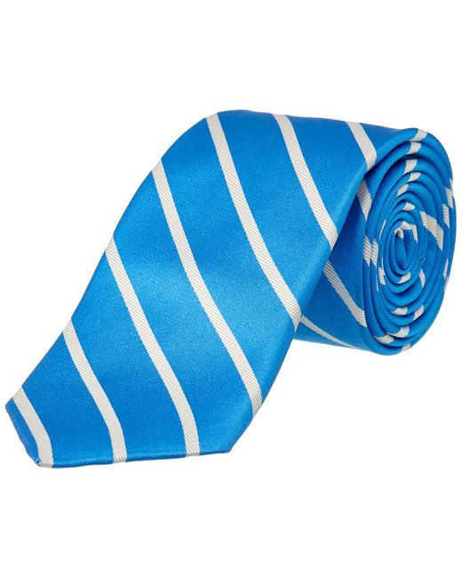 Ike Behar - Blue Sunday Stripe Silk Tie for Men - Lyst