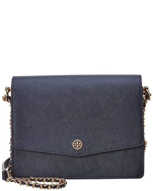 Tory Burch - Blue Robinson Convertible Leather Shoulder Bag - Lyst