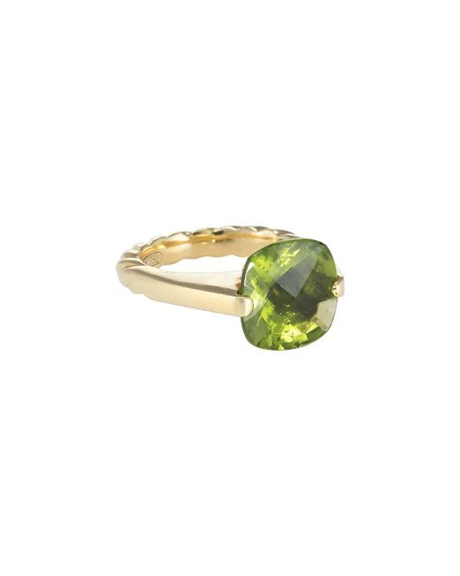 David Yurman - Metallic David Yurman Cable 18k 7.00 Ct. Tw. Peridot Ring - Lyst