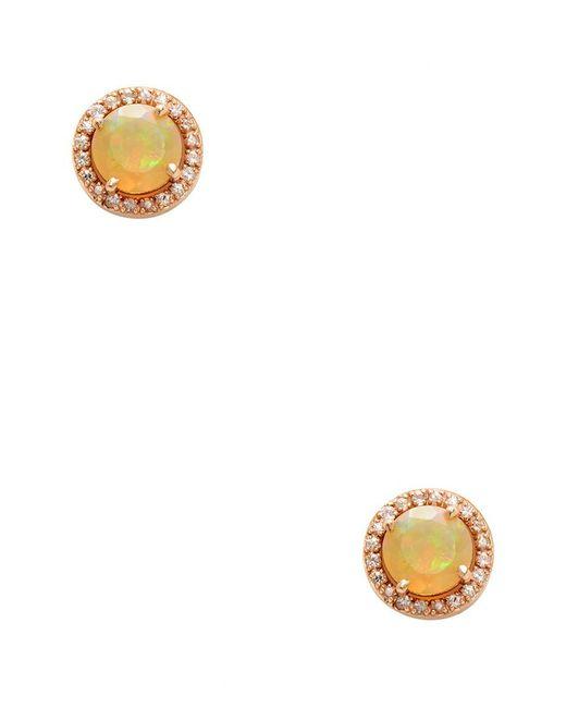 Suzanne Kalan - Metallic 14k Rose Gold Opa & Sapphire Bezel Earring - Lyst