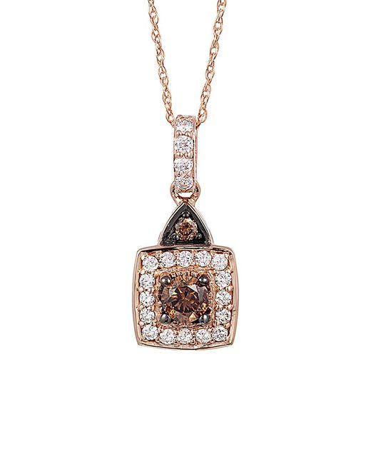 Le Vian - Metallic ? Chocolatier? 14k Rose Gold 0.49 Ct. Tw. Diamond Necklace - Lyst
