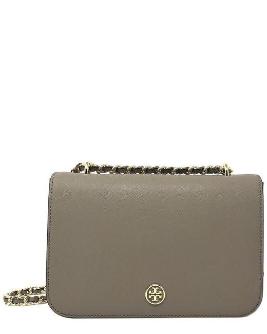 Tory Burch - Gray Robinson Leather Adjustable Shoulder Bag - Lyst
