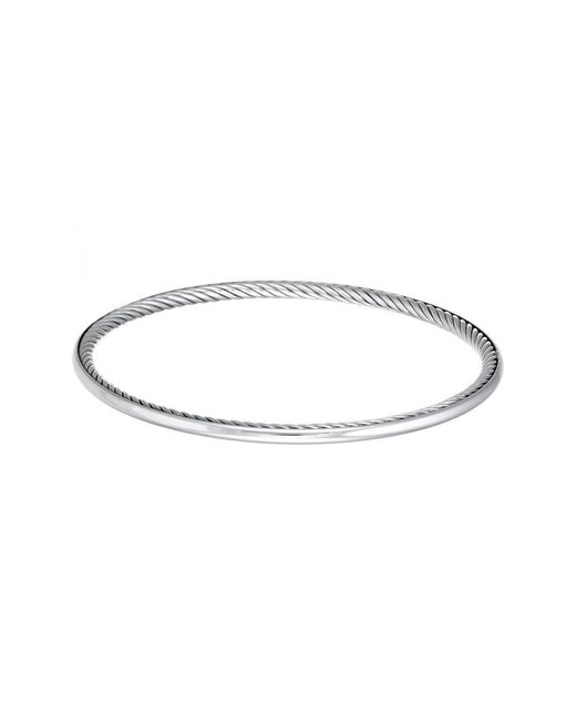 David Yurman - Metallic David Yurman Cable Inside Silver Bracelet - Lyst