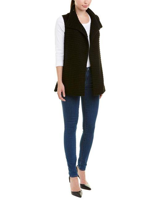Autumn Cashmere - Black Mock Neck Wool & Cashmere-blend Gilet - Lyst